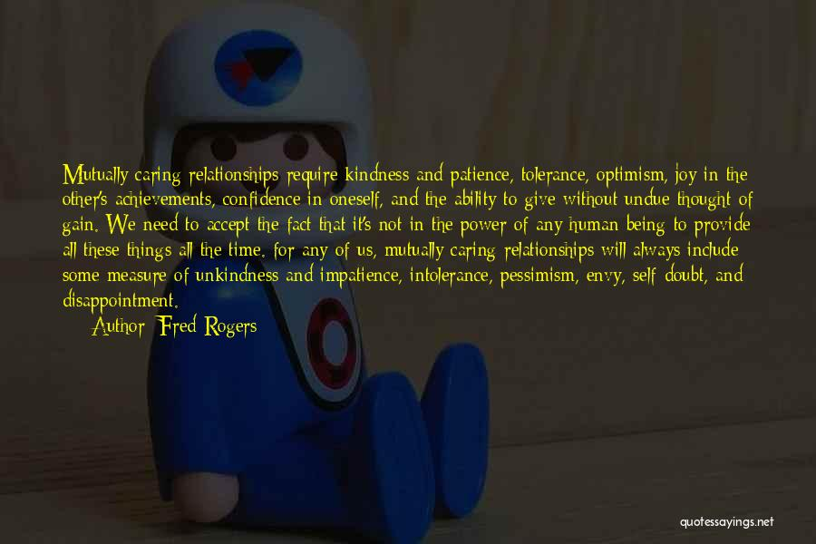 Relationships And Time Quotes By Fred Rogers