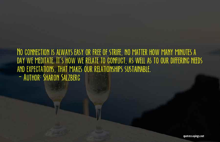 Relationships Are Not Always Easy Quotes By Sharon Salzberg