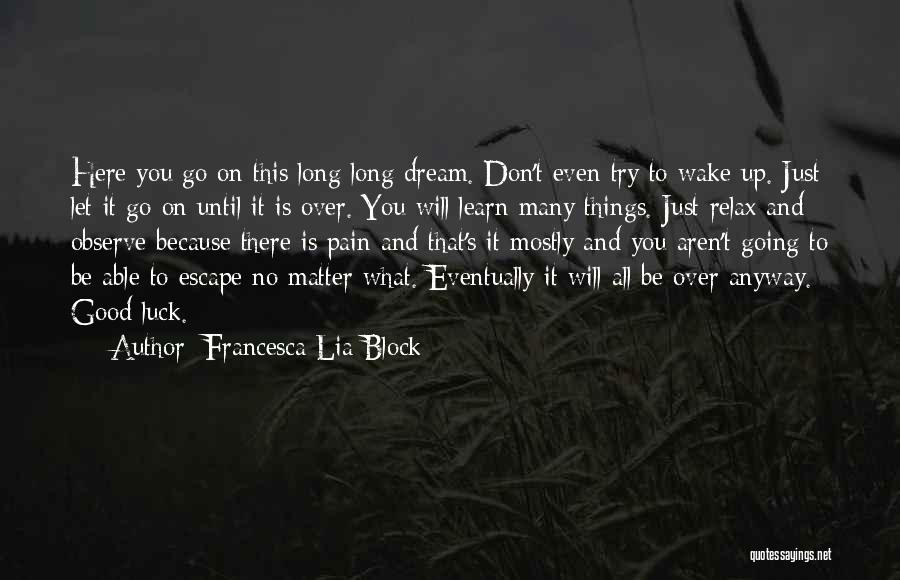 Relax Quotes By Francesca Lia Block