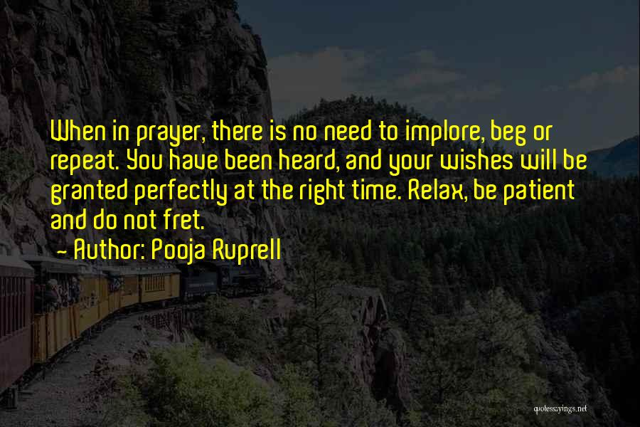 Relax Quotes By Pooja Ruprell