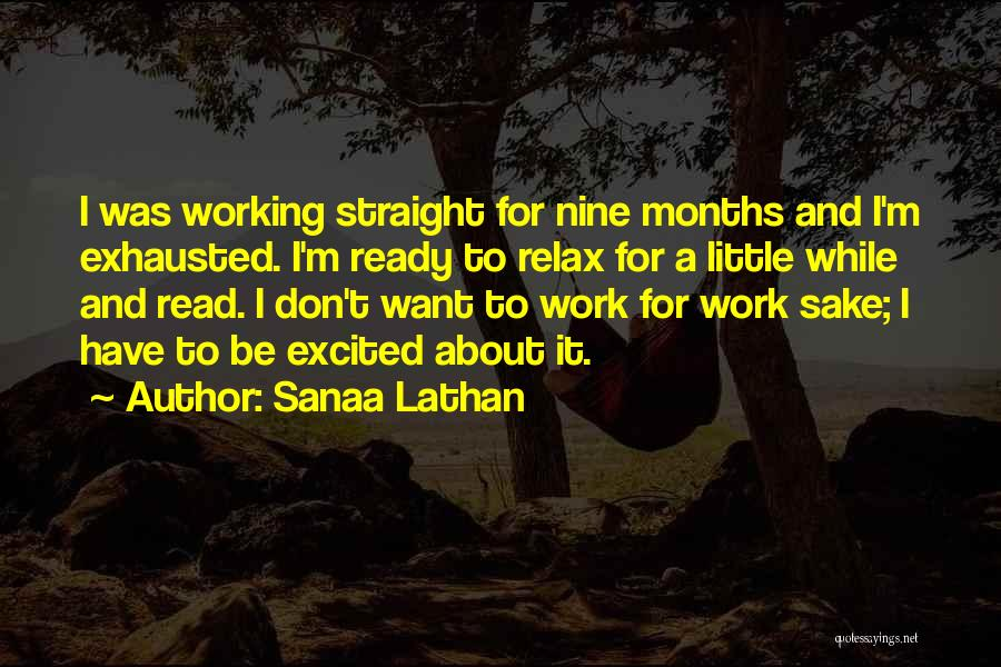 Relax Quotes By Sanaa Lathan