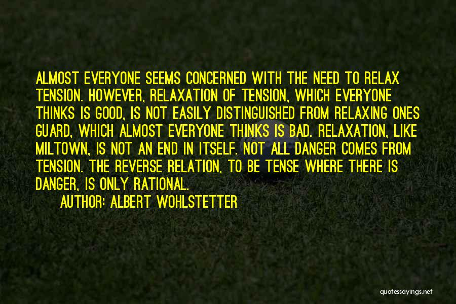 Relaxing Quotes By Albert Wohlstetter