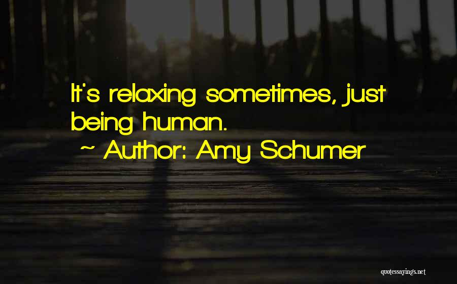 Relaxing Quotes By Amy Schumer