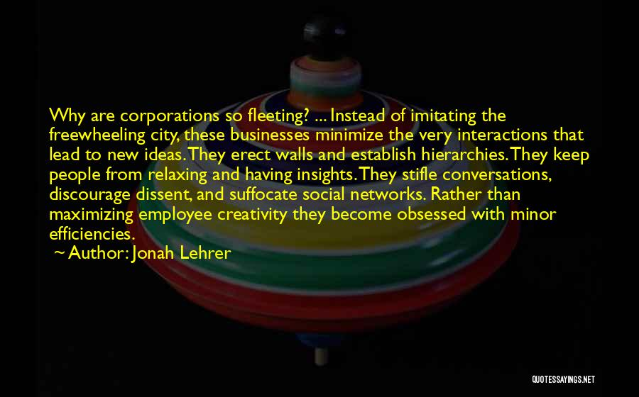 Relaxing Quotes By Jonah Lehrer