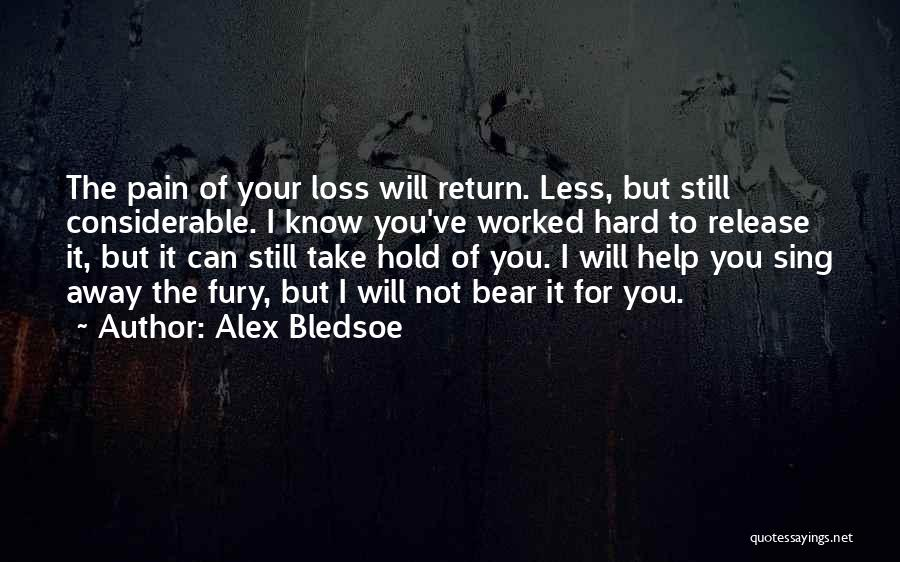 Release Your Pain Quotes By Alex Bledsoe