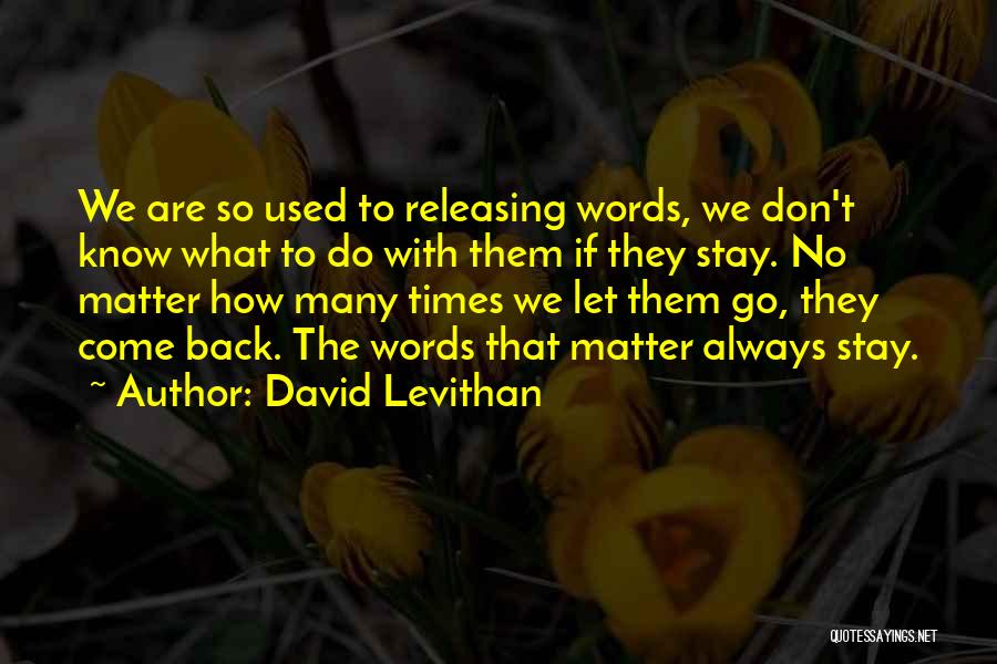 Releasing Quotes By David Levithan