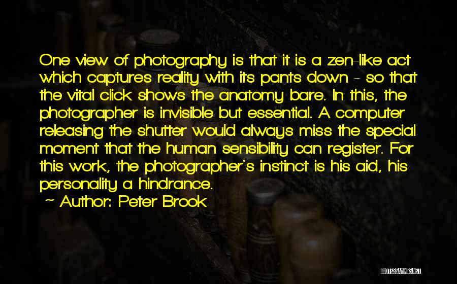 Releasing Quotes By Peter Brook