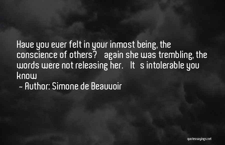 Releasing Quotes By Simone De Beauvoir