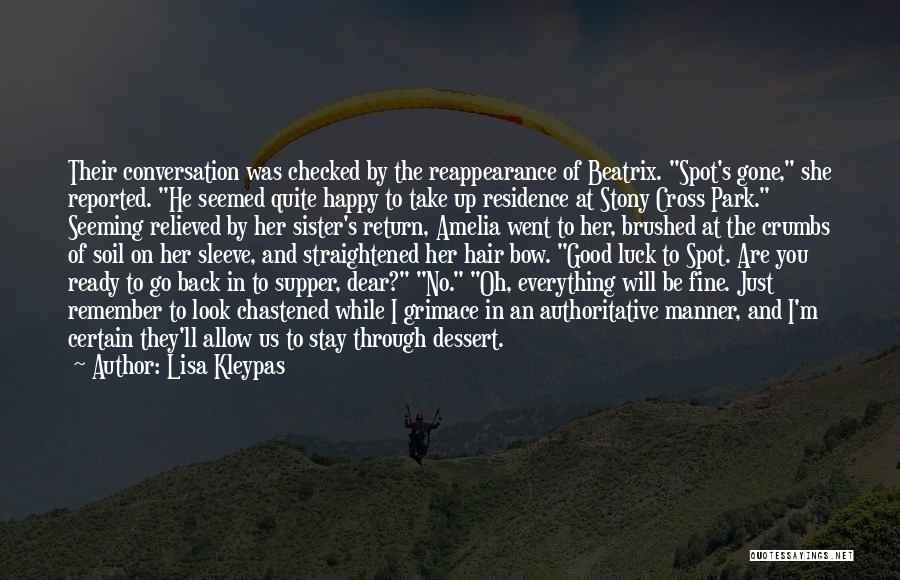 Relieved And Happy Quotes By Lisa Kleypas