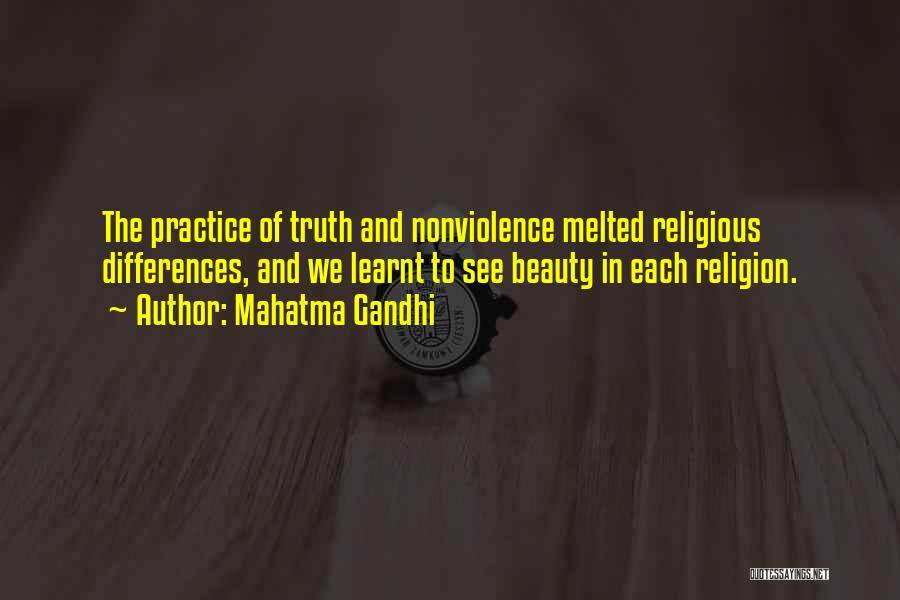 Religion Differences Quotes By Mahatma Gandhi
