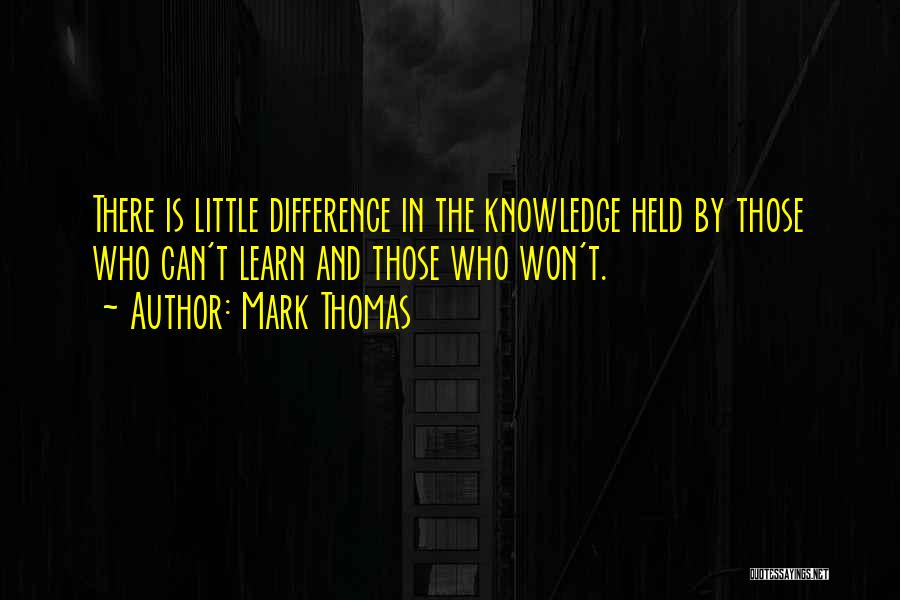 Religion Differences Quotes By Mark Thomas