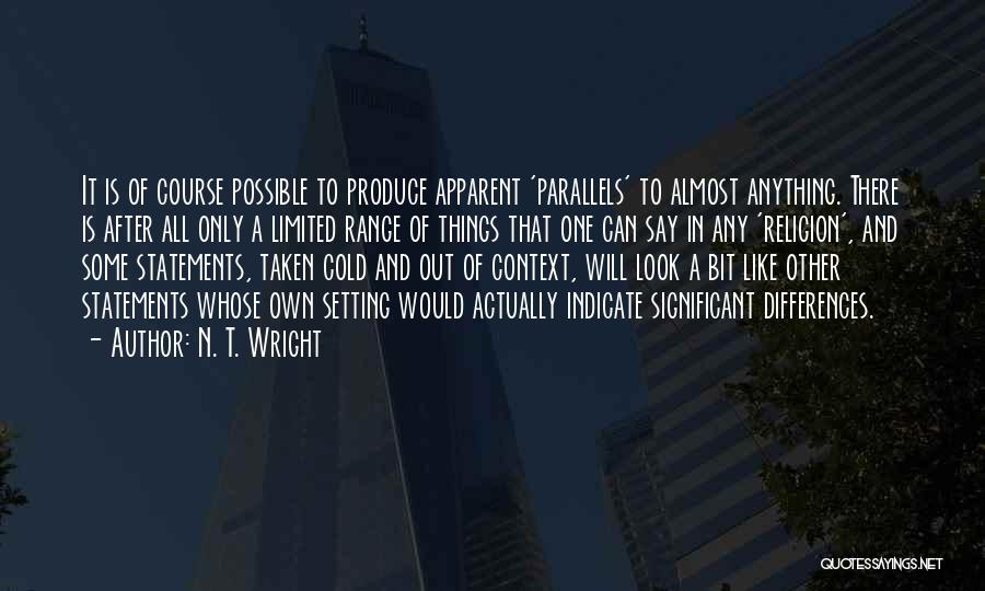 Religion Differences Quotes By N. T. Wright