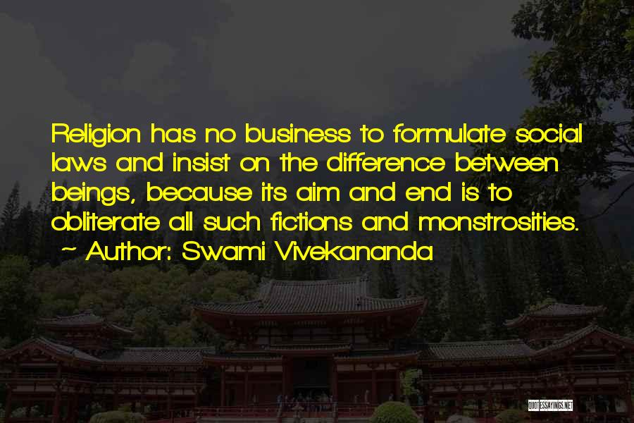 Religion Differences Quotes By Swami Vivekananda