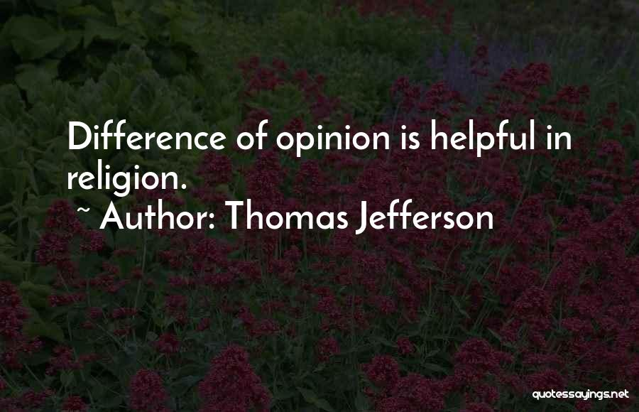 Religion Differences Quotes By Thomas Jefferson