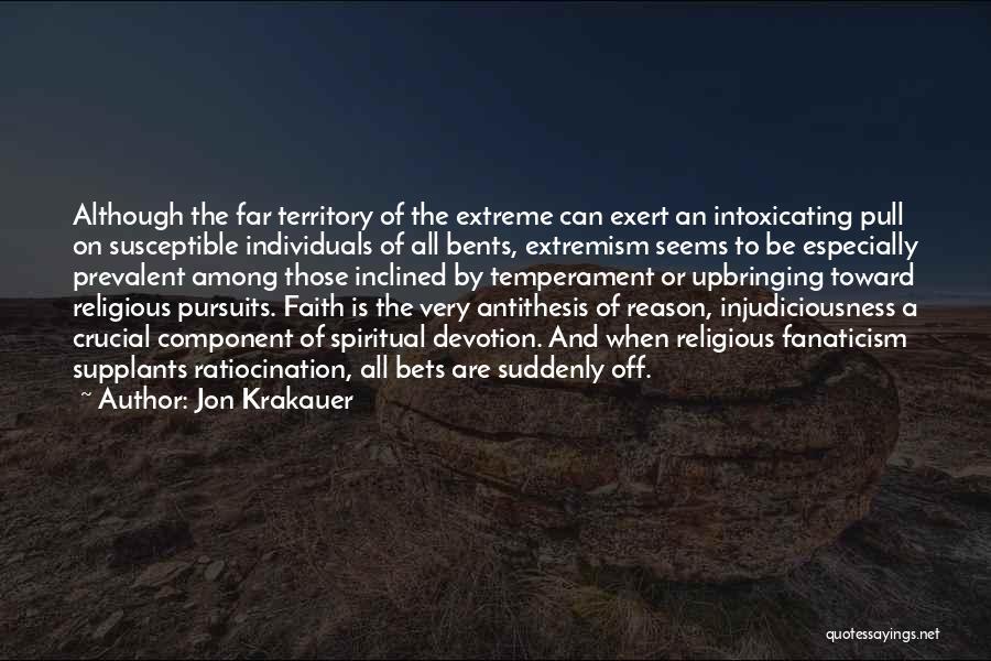 Religion Fanaticism Quotes By Jon Krakauer
