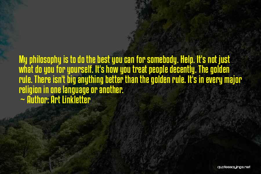 Religion In Art Quotes By Art Linkletter