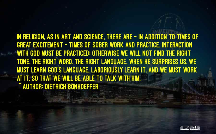Religion In Art Quotes By Dietrich Bonhoeffer