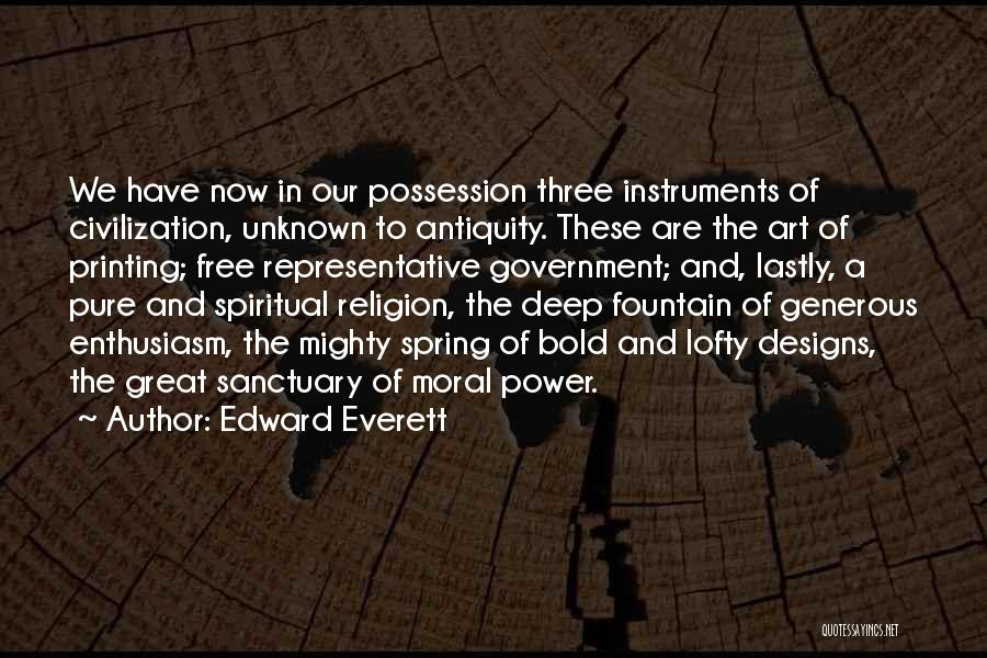 Religion In Art Quotes By Edward Everett
