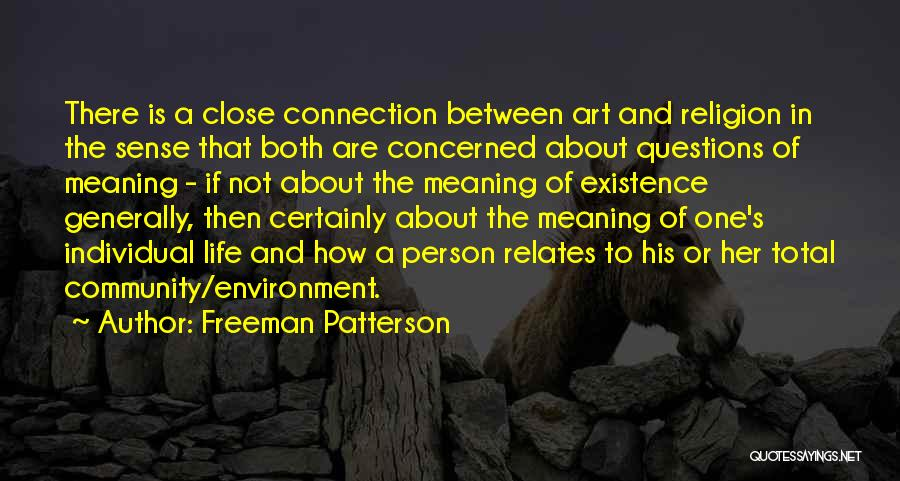 Religion In Art Quotes By Freeman Patterson