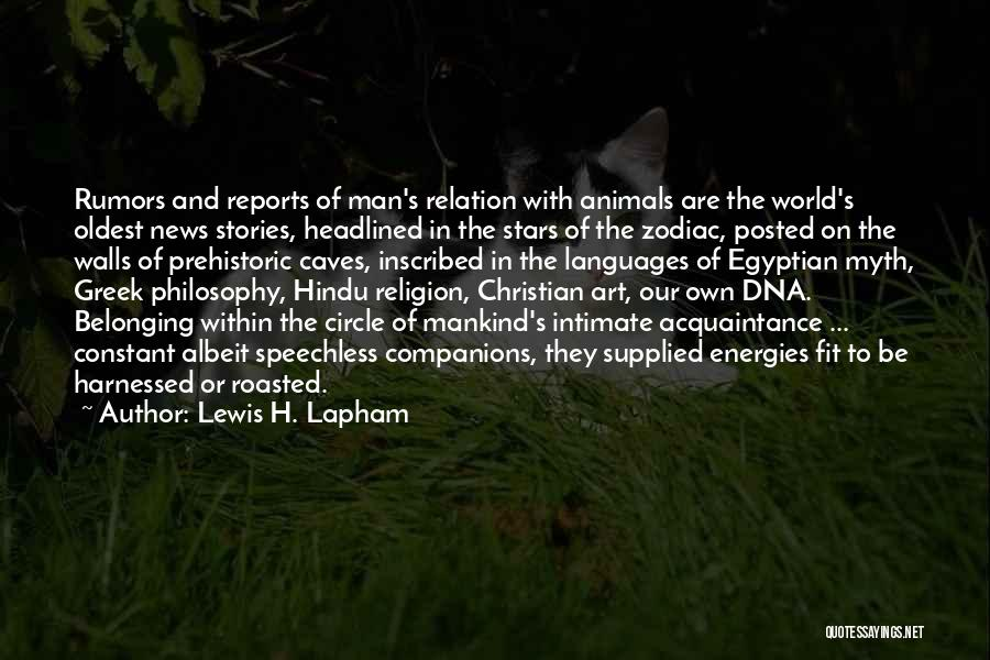 Religion In Art Quotes By Lewis H. Lapham
