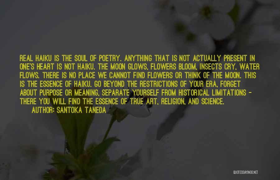 Religion In Art Quotes By Santoka Taneda