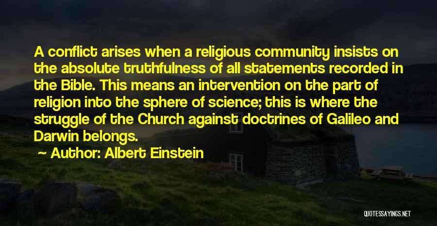 Religion In The Bible Quotes By Albert Einstein