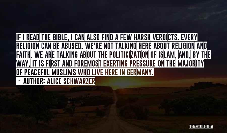 Religion In The Bible Quotes By Alice Schwarzer