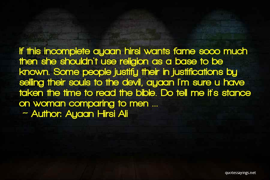 Religion In The Bible Quotes By Ayaan Hirsi Ali