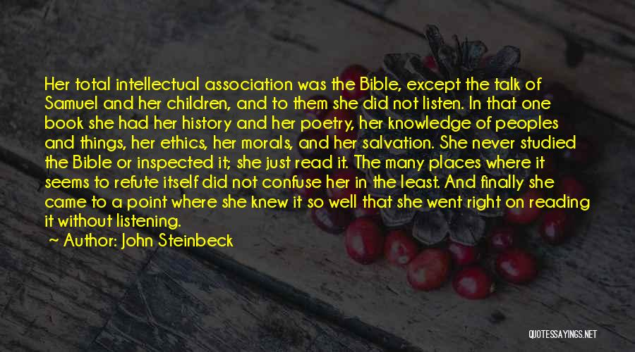Religion In The Bible Quotes By John Steinbeck