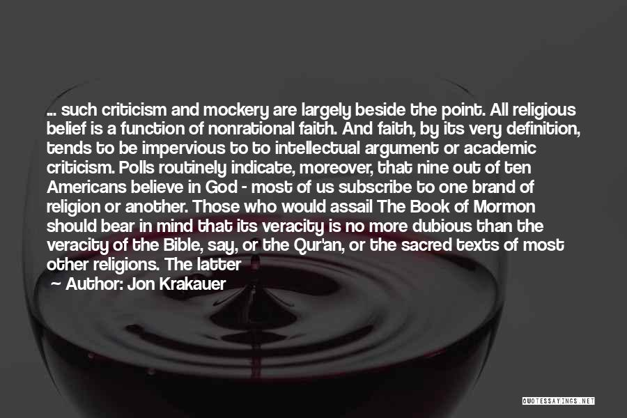 Religion In The Bible Quotes By Jon Krakauer