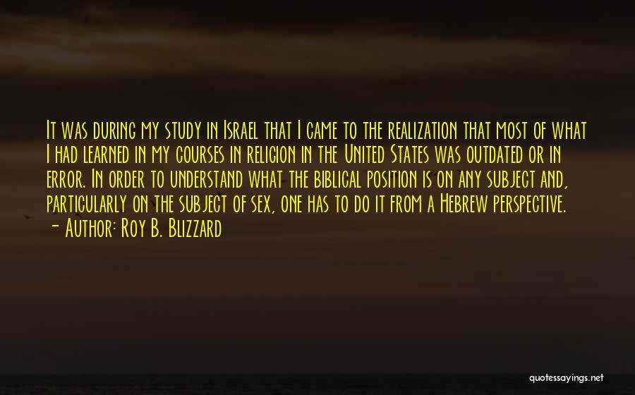 Religion In The Bible Quotes By Roy B. Blizzard