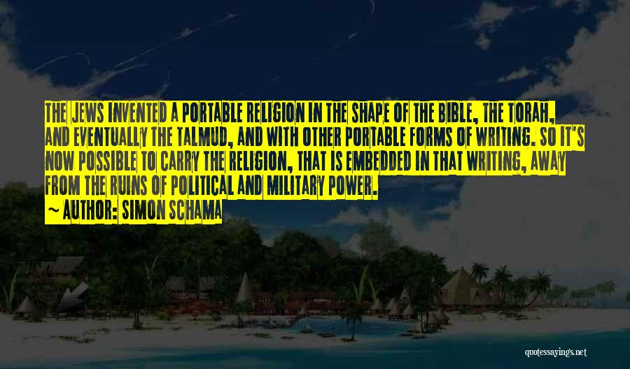 Religion In The Bible Quotes By Simon Schama