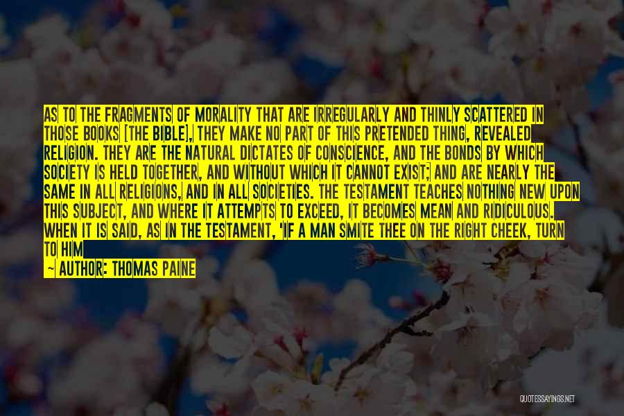 Religion In The Bible Quotes By Thomas Paine
