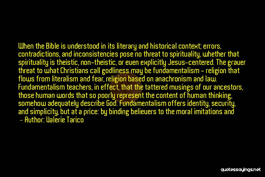 Religion In The Bible Quotes By Valerie Tarico
