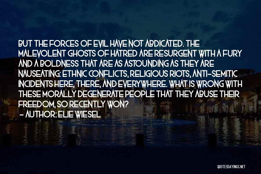 Religious Conflicts Quotes By Elie Wiesel