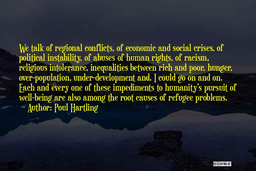 Religious Conflicts Quotes By Poul Hartling