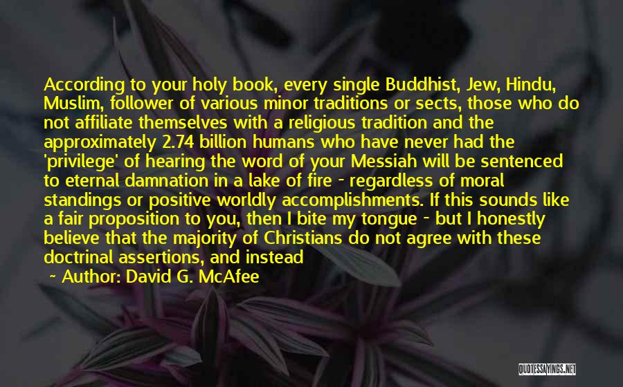 Religious Sects Quotes By David G. McAfee