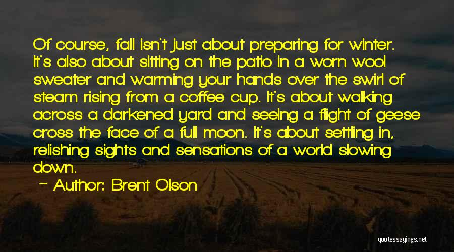 Relishing Quotes By Brent Olson