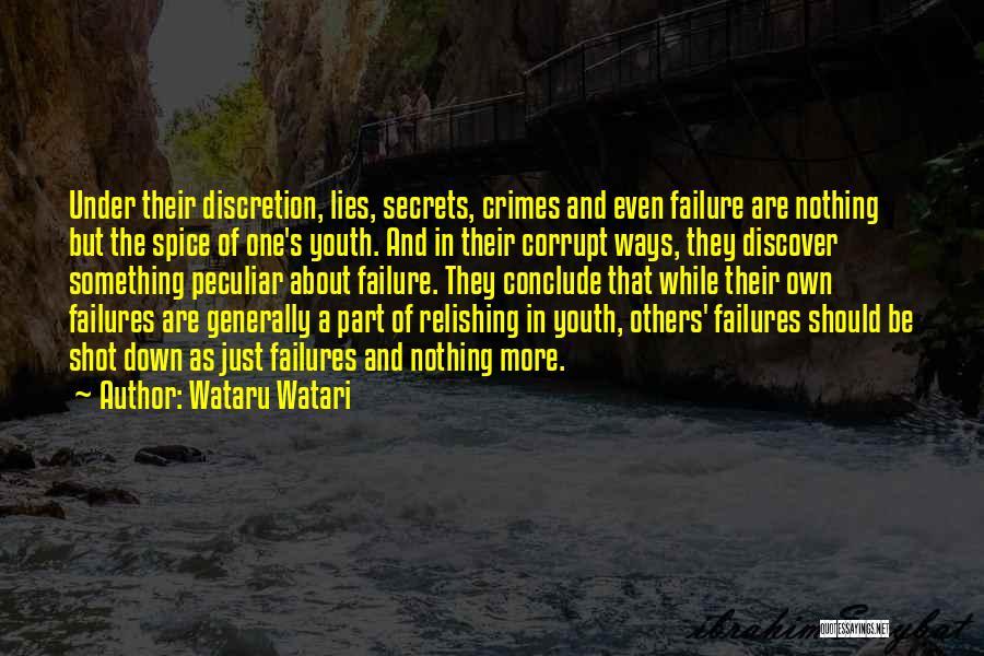 Relishing Quotes By Wataru Watari