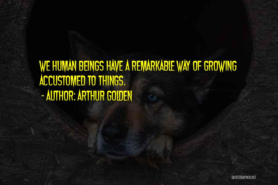 Remarkable Quotes By Arthur Golden