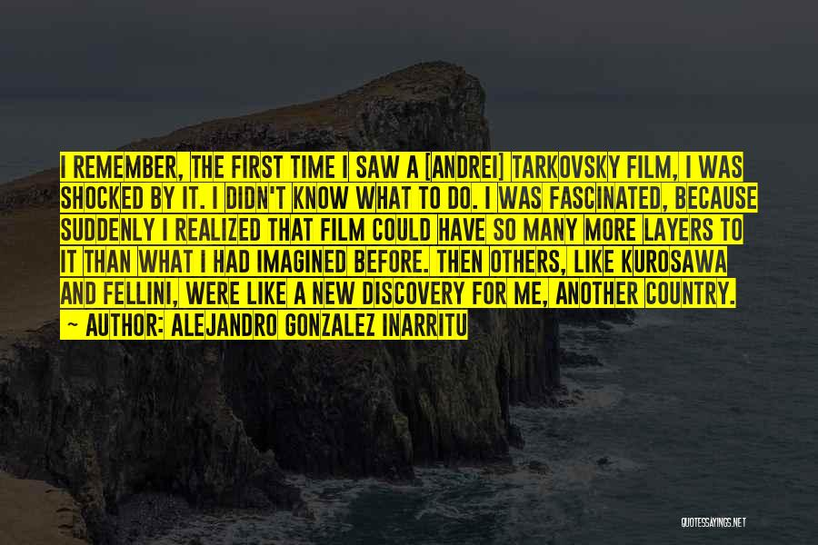 Remember The First Time Quotes By Alejandro Gonzalez Inarritu