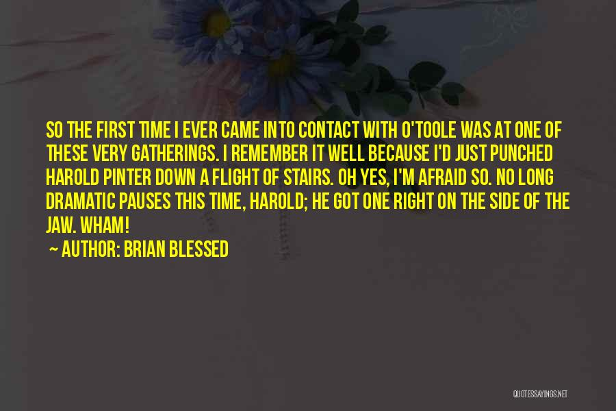 Remember The First Time Quotes By Brian Blessed