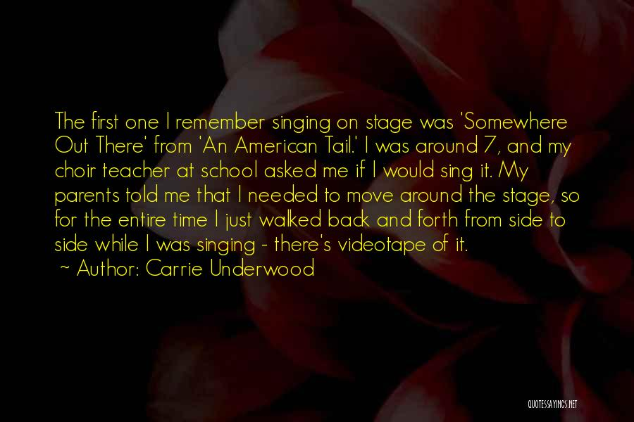 Remember The First Time Quotes By Carrie Underwood