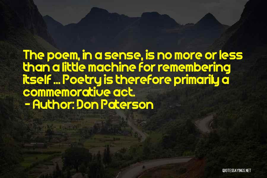 Remembering 9/11 Quotes By Don Paterson