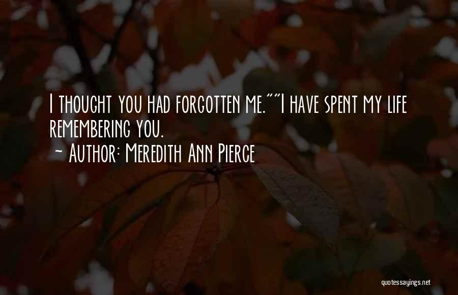 Remembering My Love Quotes By Meredith Ann Pierce