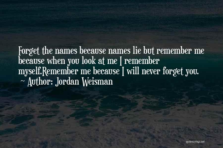 Remembering Names Quotes By Jordan Weisman