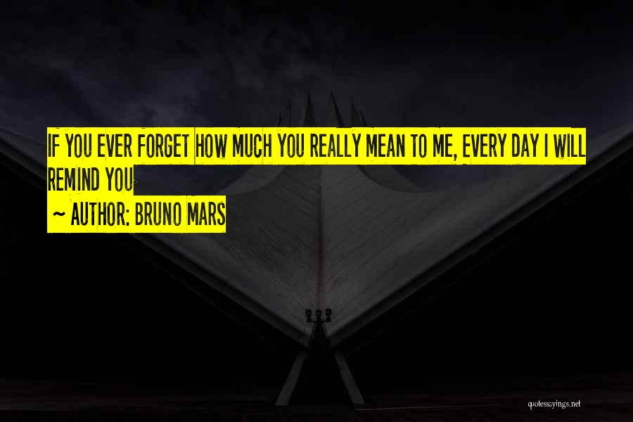 Remind Love Quotes By Bruno Mars