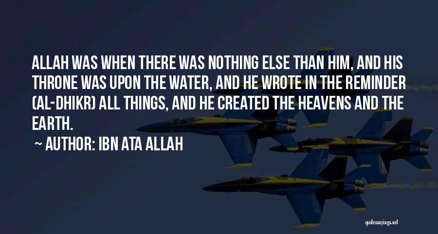 Reminder Quotes By Ibn Ata Allah