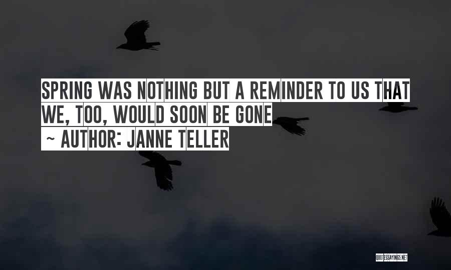 Reminder Quotes By Janne Teller