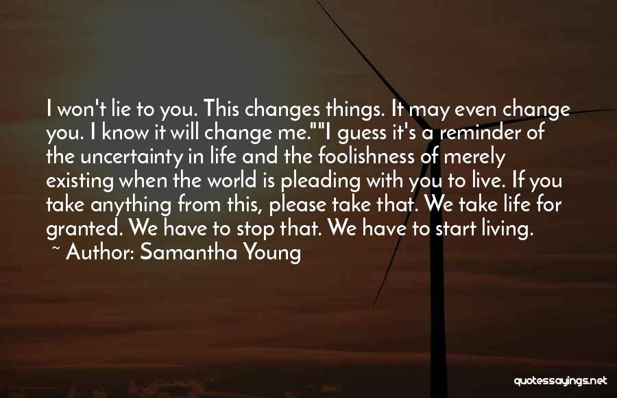 Reminder Quotes By Samantha Young